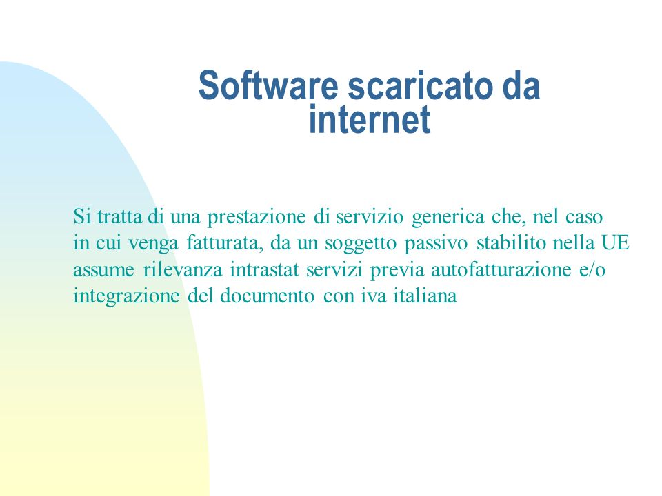 Software scaricato da internet