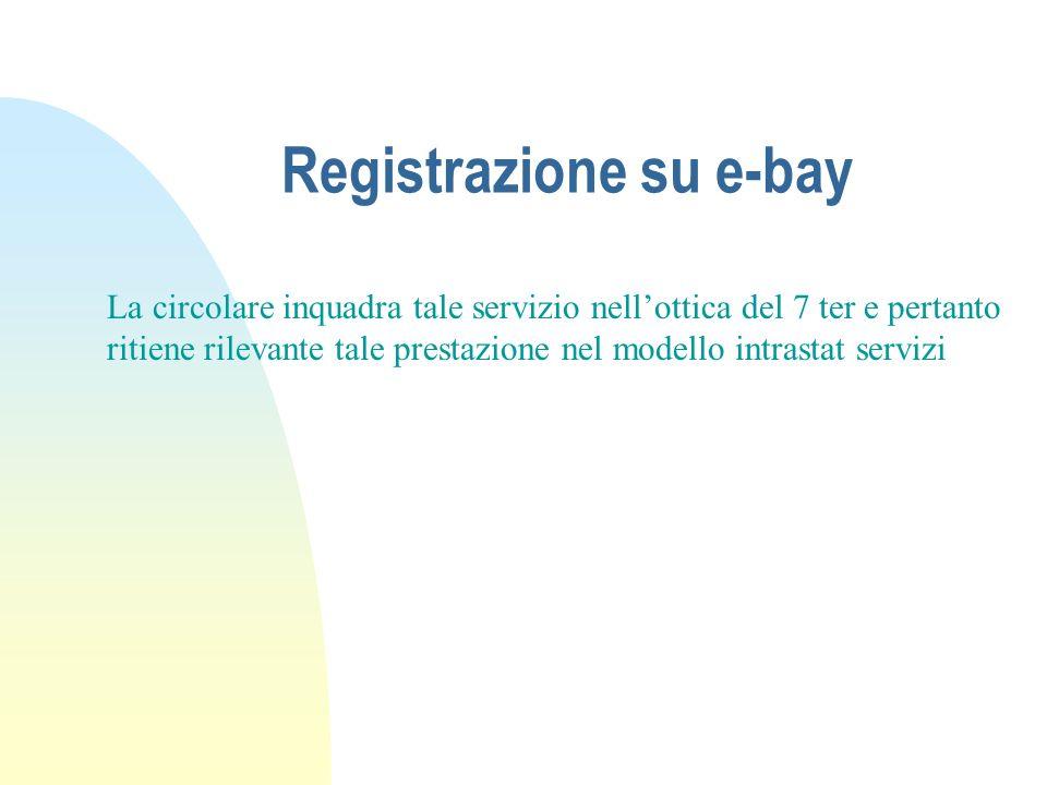Registrazione su e-bay