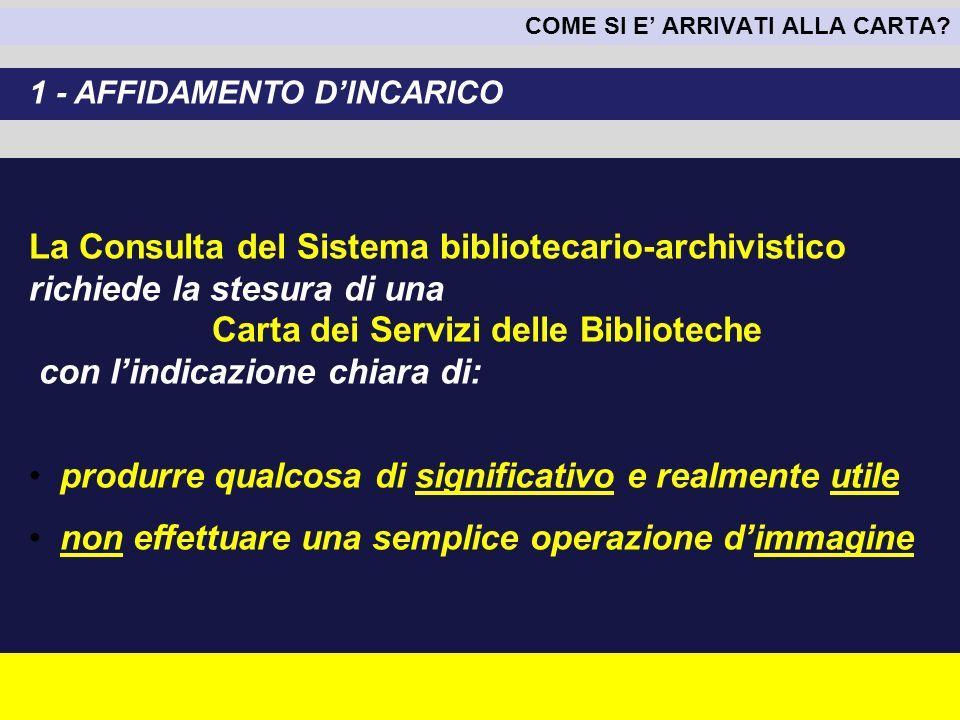 La Consulta del Sistema bibliotecario-archivistico