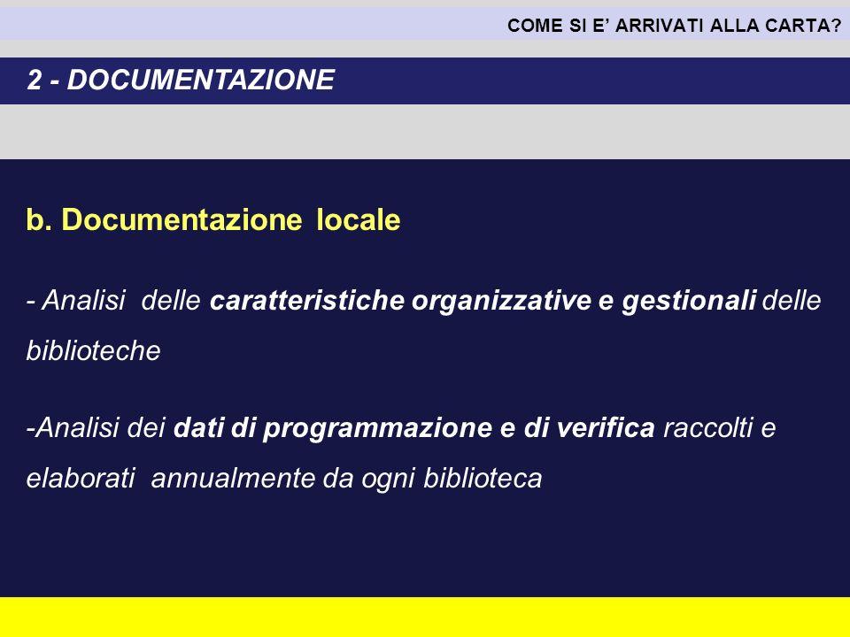 b. Documentazione locale