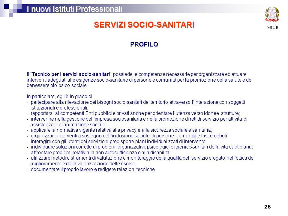 SERVIZI SOCIO-SANITARI PROFILO