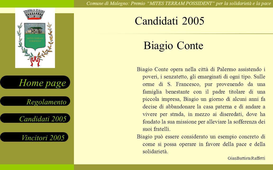 Candidati 2005 Biagio Conte