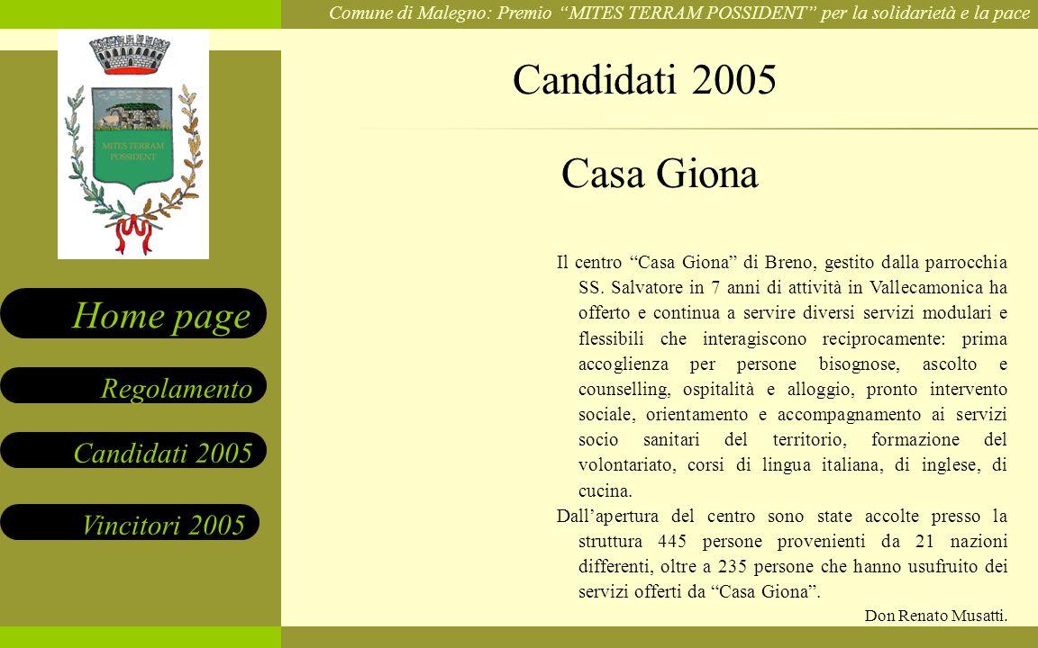 Candidati 2005 Casa Giona.