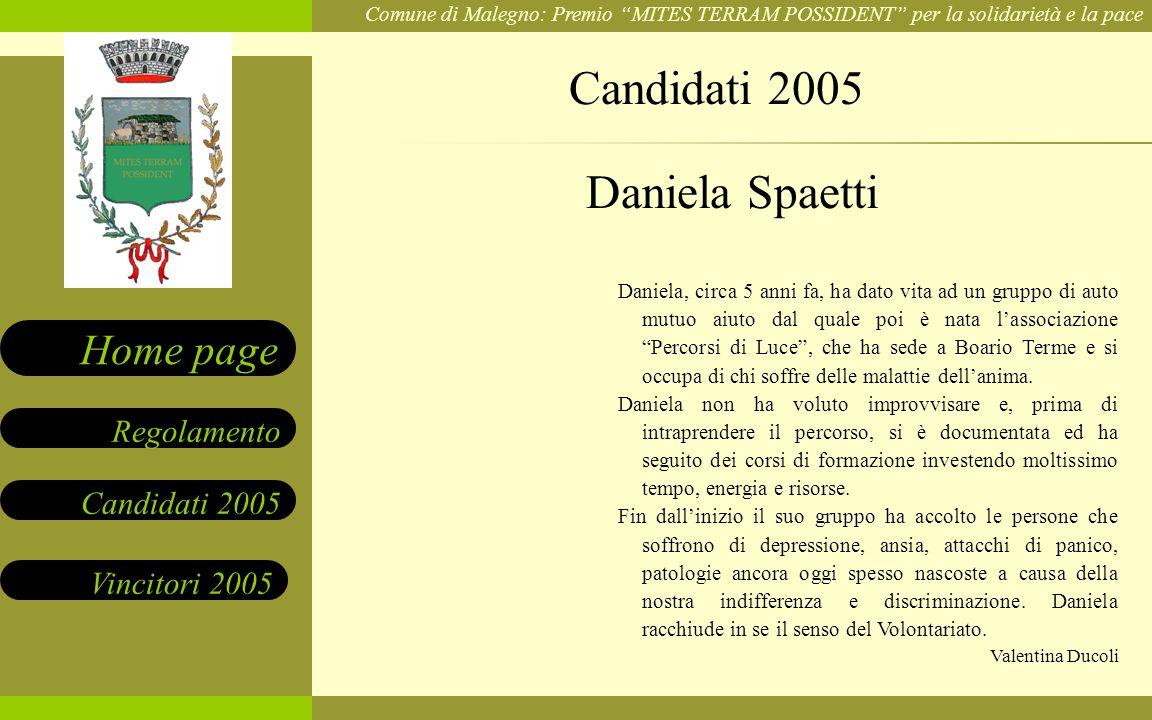 Candidati 2005 Daniela Spaetti