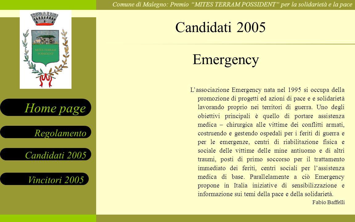 Candidati 2005 Emergency.