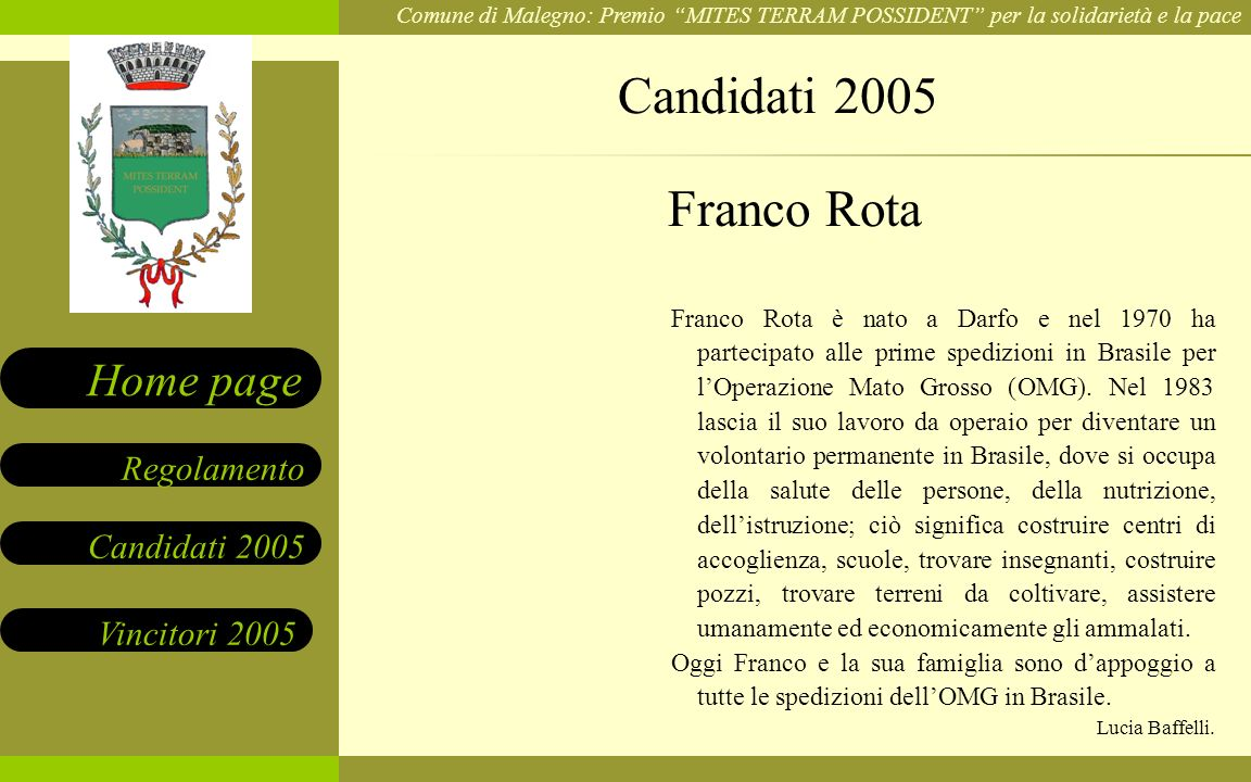 Candidati 2005 Franco Rota.