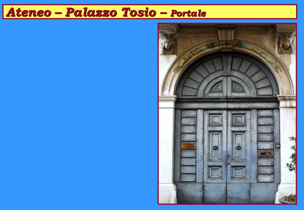 Ateneo – Palazzo Tosio – Portale