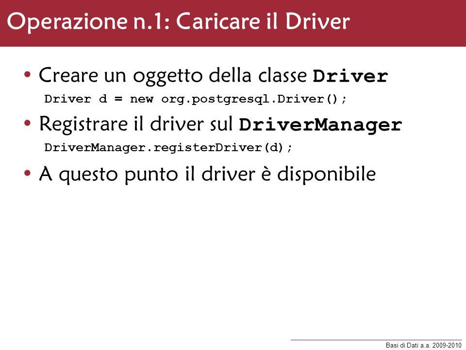 Operazione n.1: Caricare il Driver
