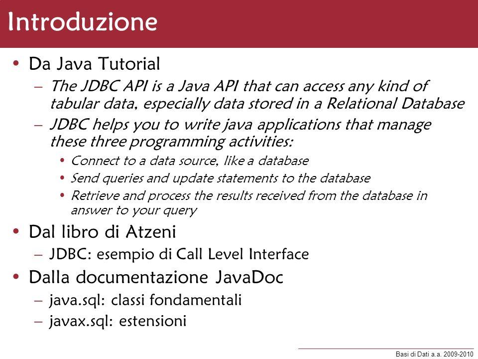 Introduzione Da Java Tutorial Dal libro di Atzeni