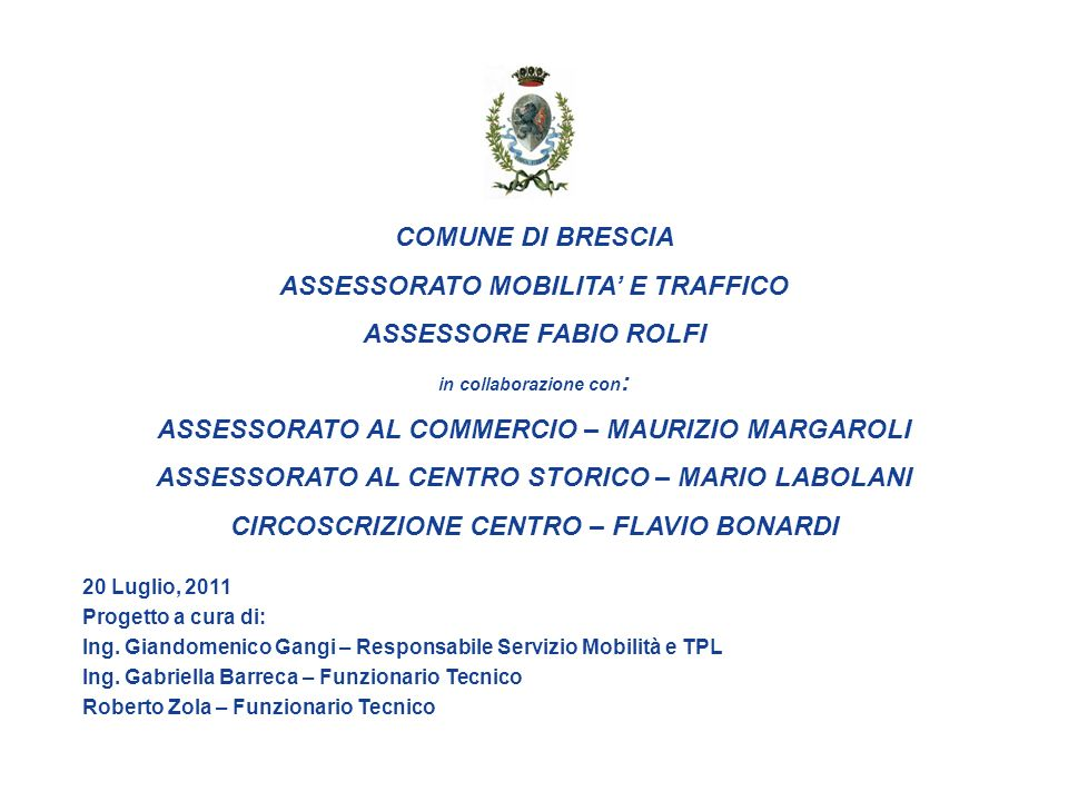 ASSESSORATO MOBILITA' E TRAFFICO ASSESSORE FABIO ROLFI