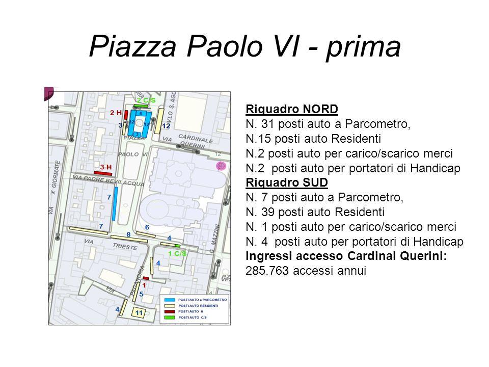 Piazza Paolo VI - prima Riquadro NORD N. 31 posti auto a Parcometro,