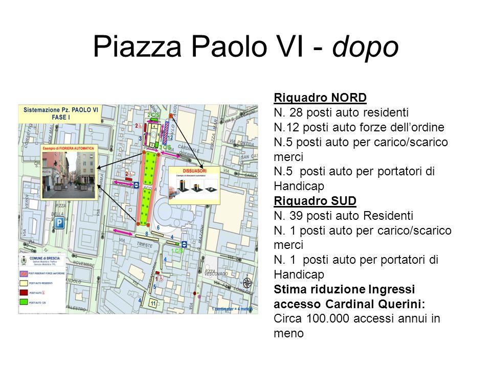 Piazza Paolo VI - dopo Riquadro NORD N. 28 posti auto residenti