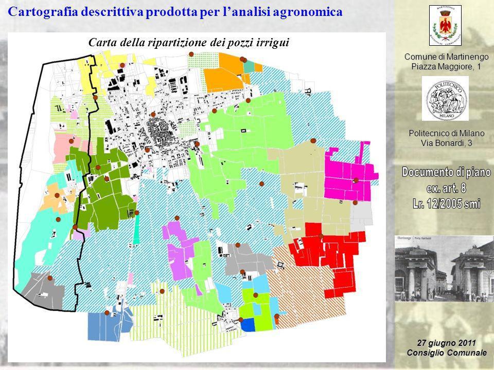 Cartografia descrittiva prodotta per l'analisi agronomica