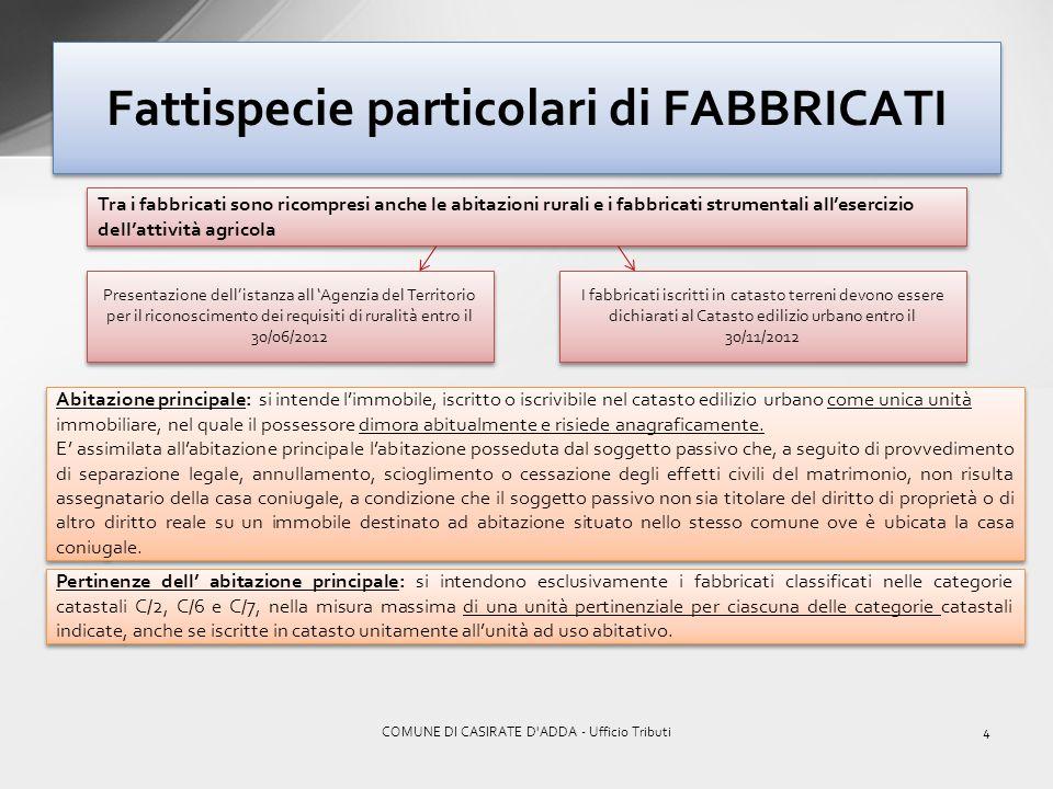 Fattispecie particolari di FABBRICATI