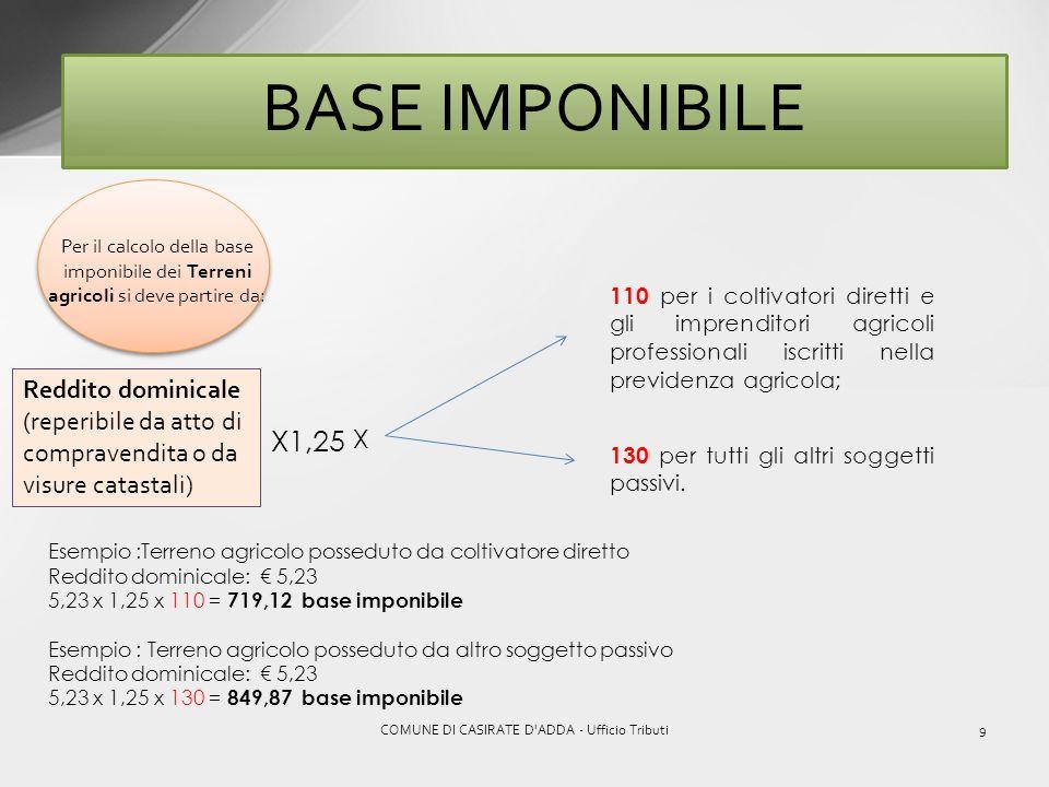 COMUNE DI CASIRATE D ADDA - Ufficio Tributi