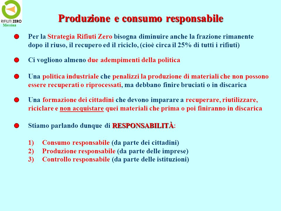 Produzione e consumo responsabile