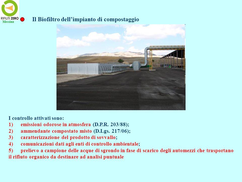 Il Biofiltro dell'impianto di compostaggio