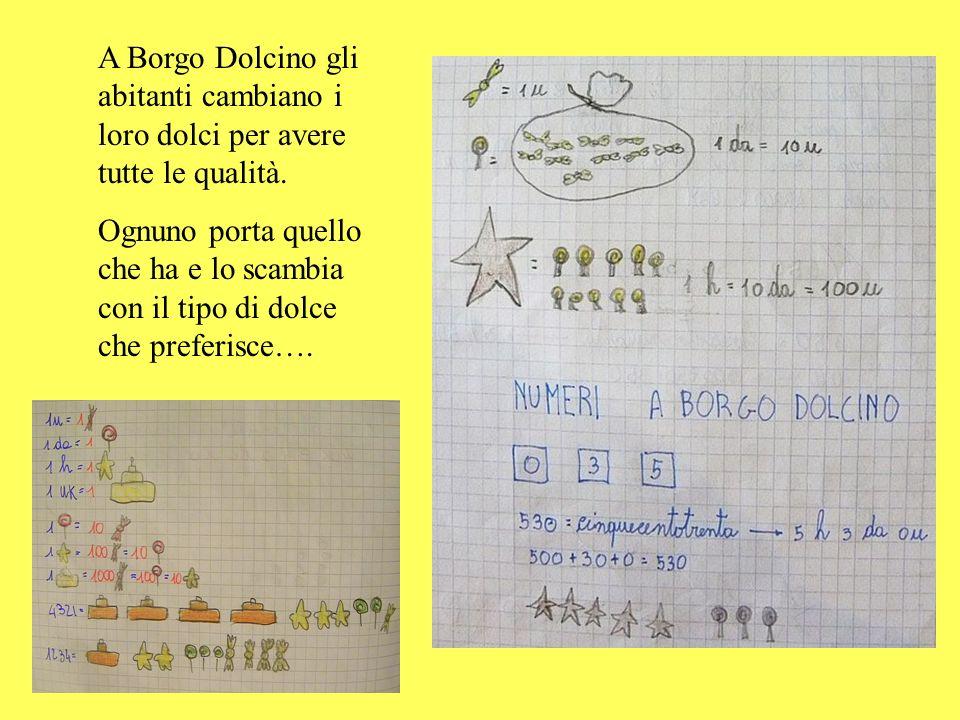A Borgo Dolcino gli abitanti cambiano i loro dolci per avere tutte le qualità.