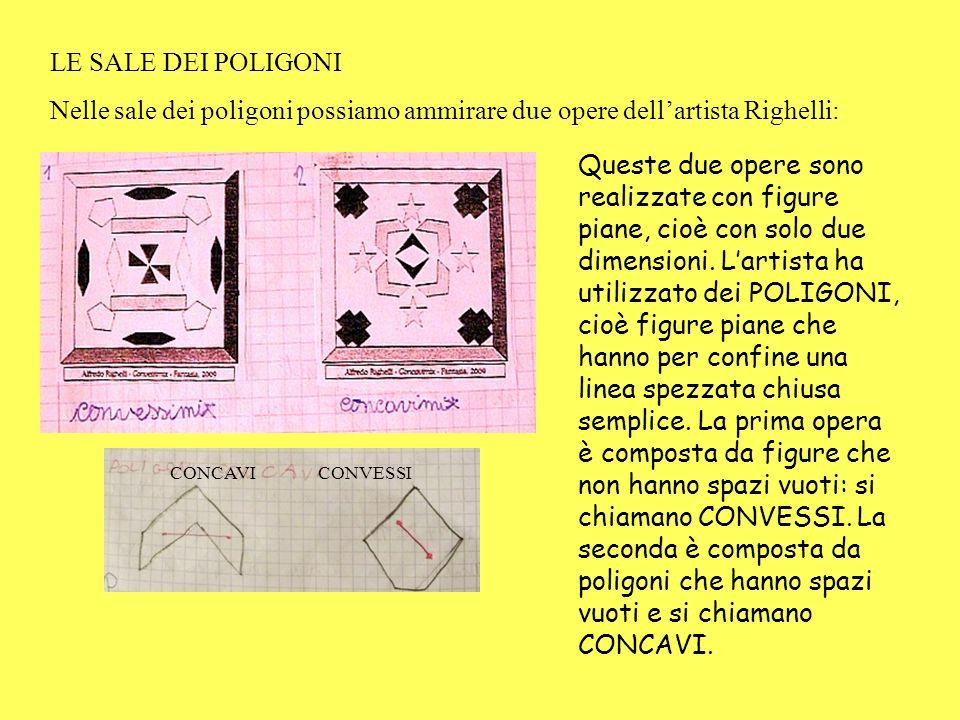 LE SALE DEI POLIGONI Nelle sale dei poligoni possiamo ammirare due opere dell'artista Righelli:
