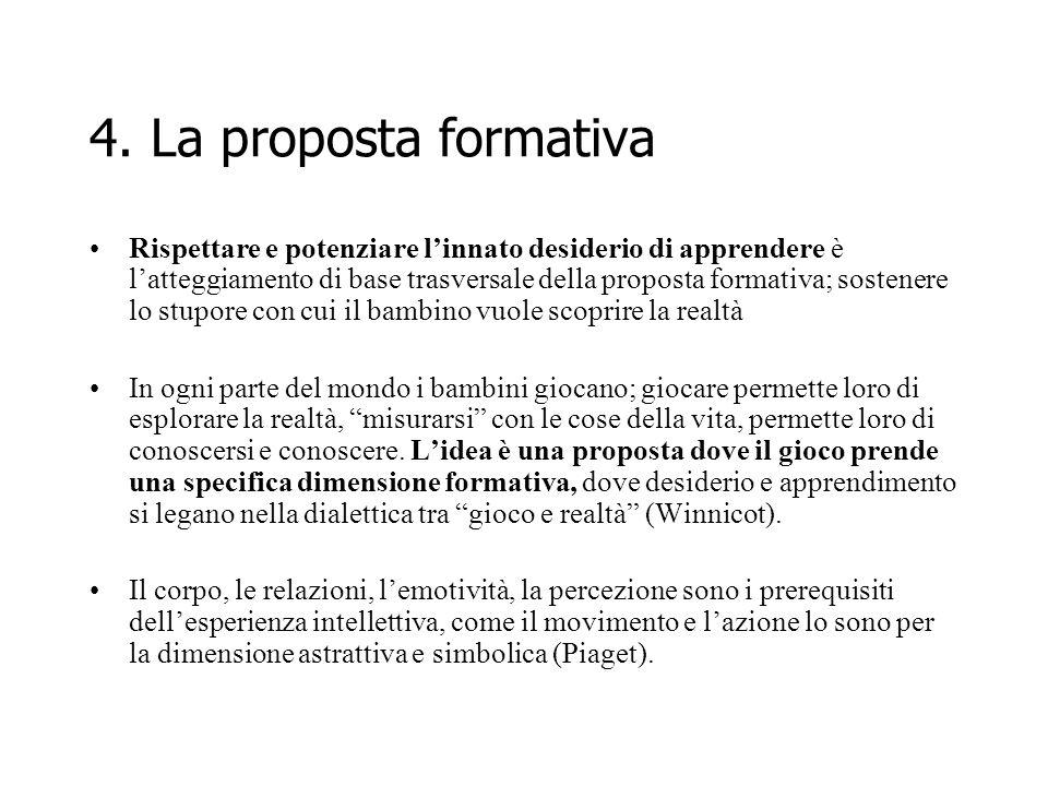 4. La proposta formativa