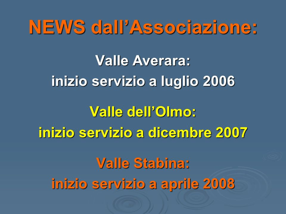 NEWS dall'Associazione: