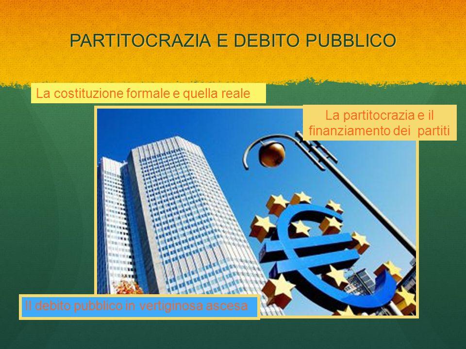 PARTITOCRAZIA E DEBITO PUBBLICO