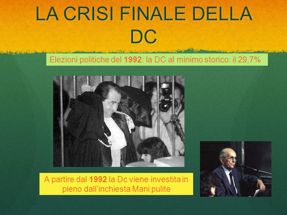 LA CRISI FINALE DELLA DC