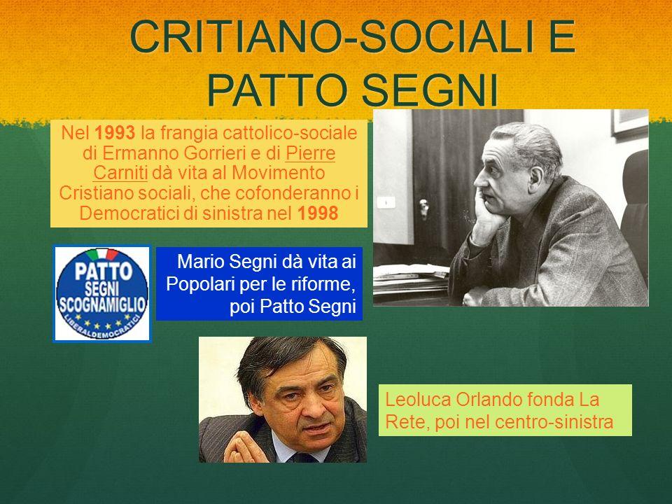 CRITIANO-SOCIALI E PATTO SEGNI