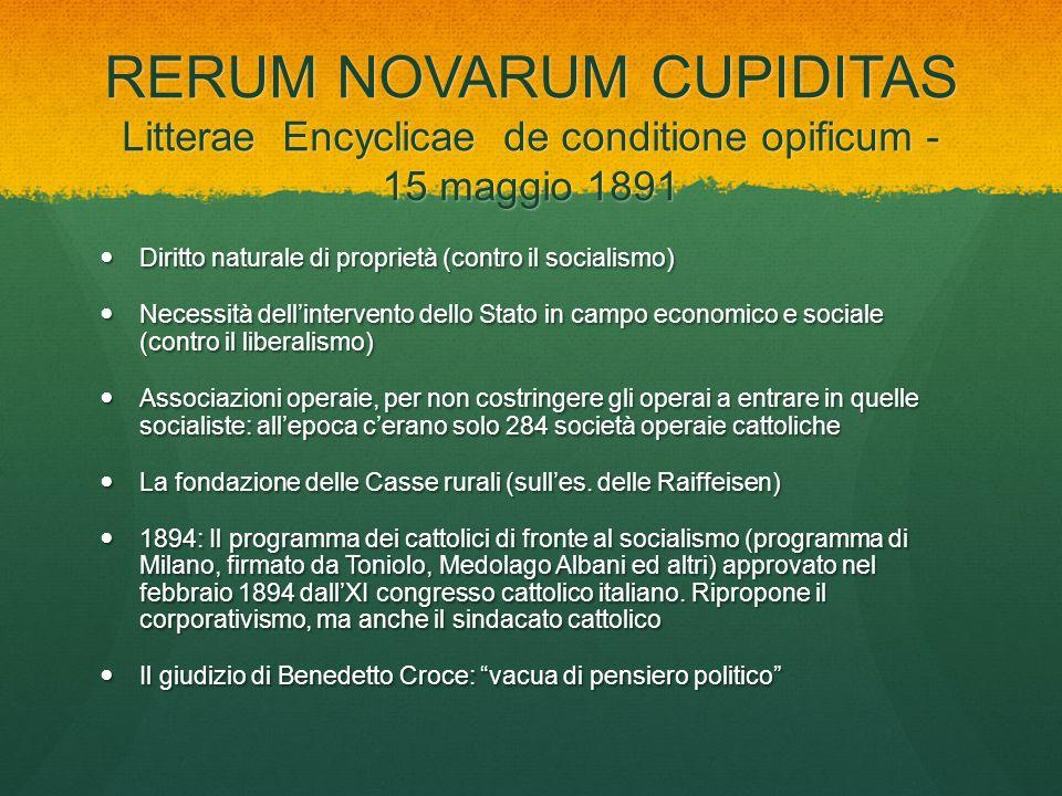 RERUM NOVARUM CUPIDITAS Litterae Encyclicae de conditione opificum - 15 maggio 1891