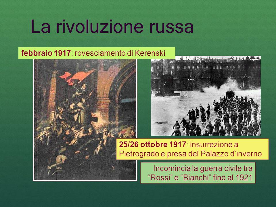 La rivoluzione russa febbraio 1917: rovesciamento di Kerenski