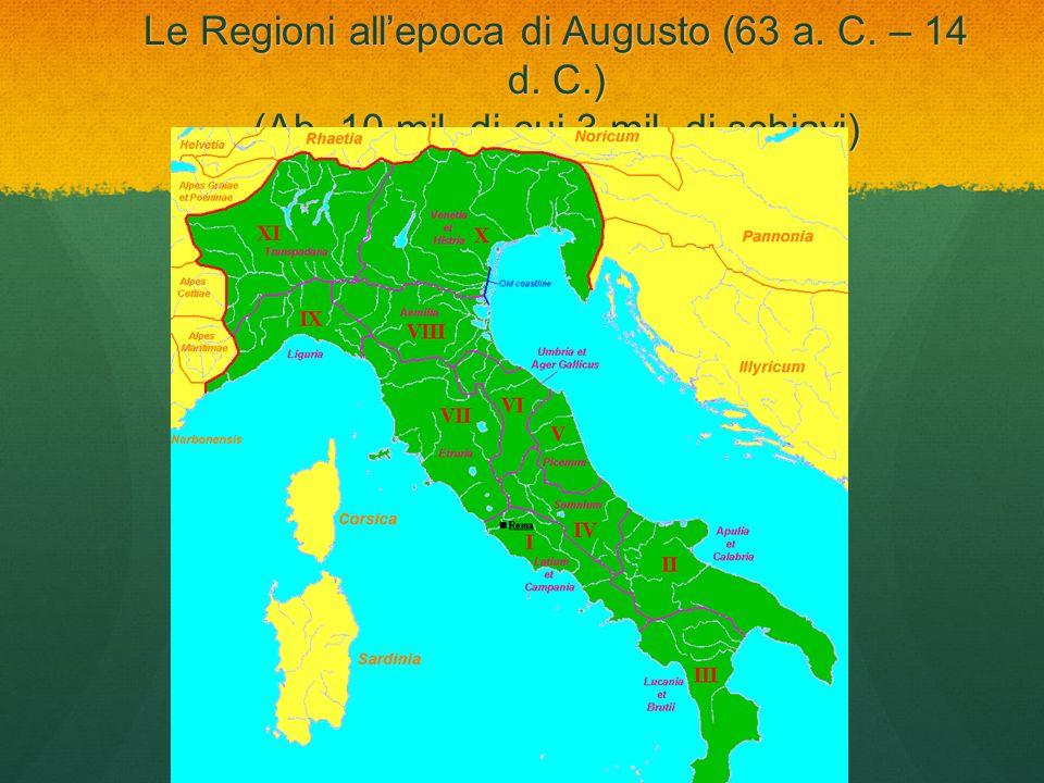 Le Regioni all'epoca di Augusto (63 a. C. – 14 d. C. ) (Ab