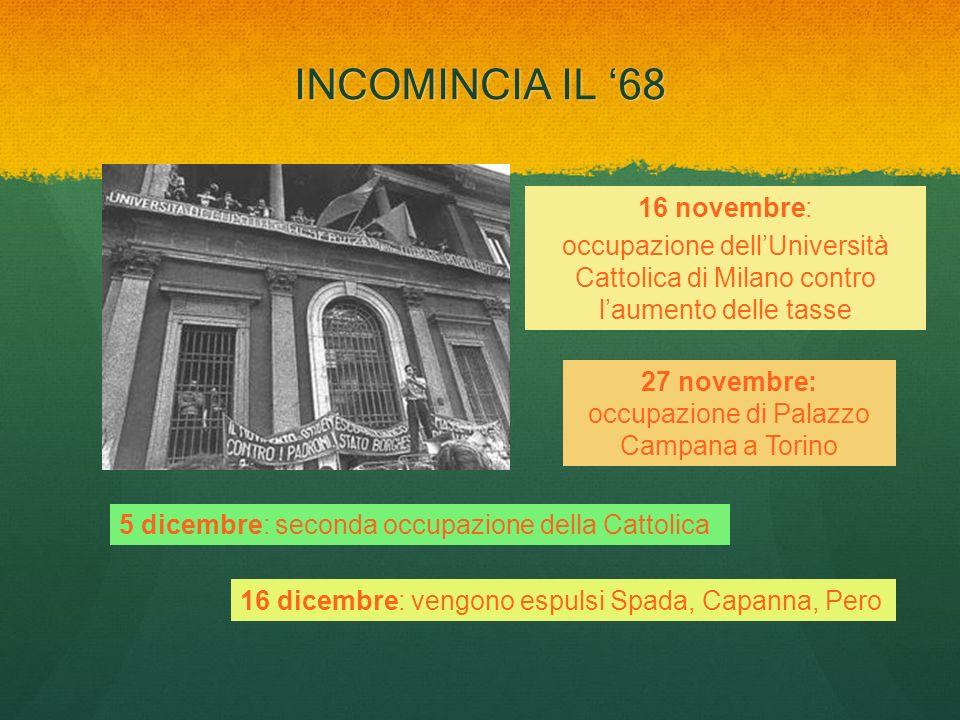 27 novembre: occupazione di Palazzo Campana a Torino