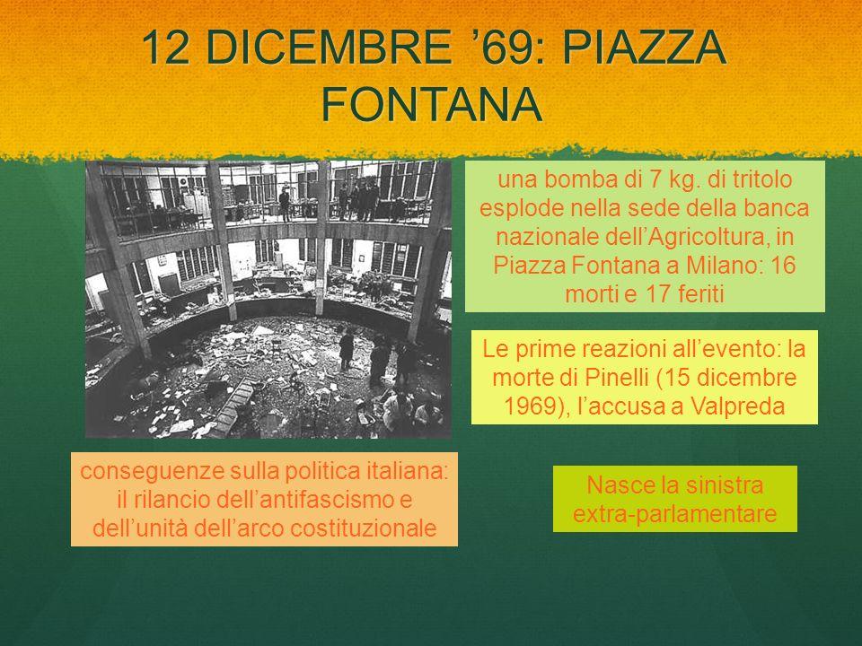 12 DICEMBRE '69: PIAZZA FONTANA