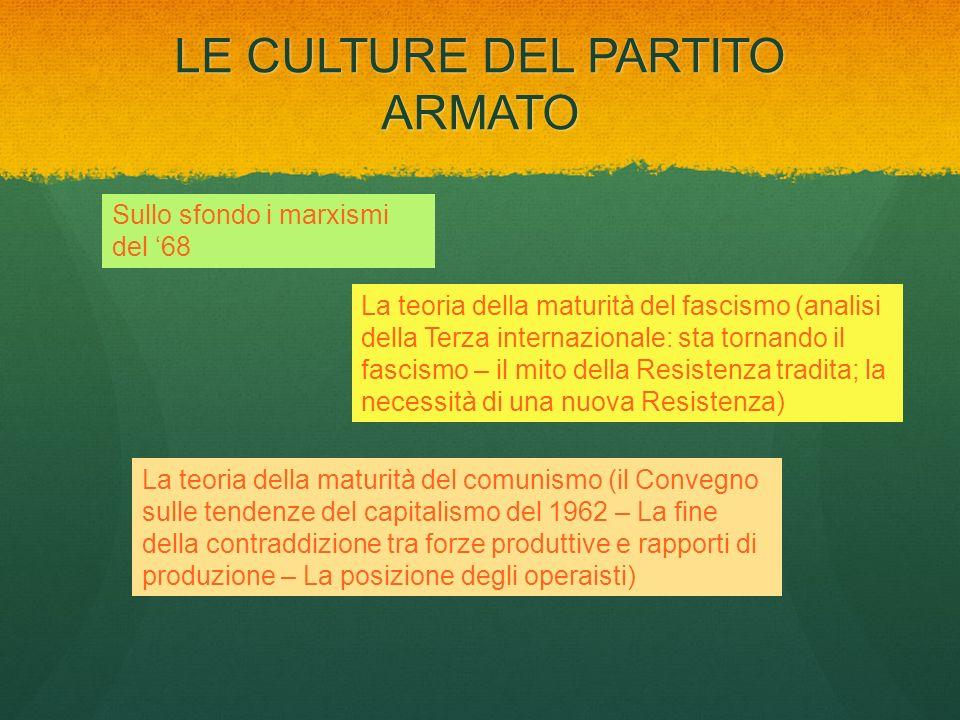LE CULTURE DEL PARTITO ARMATO