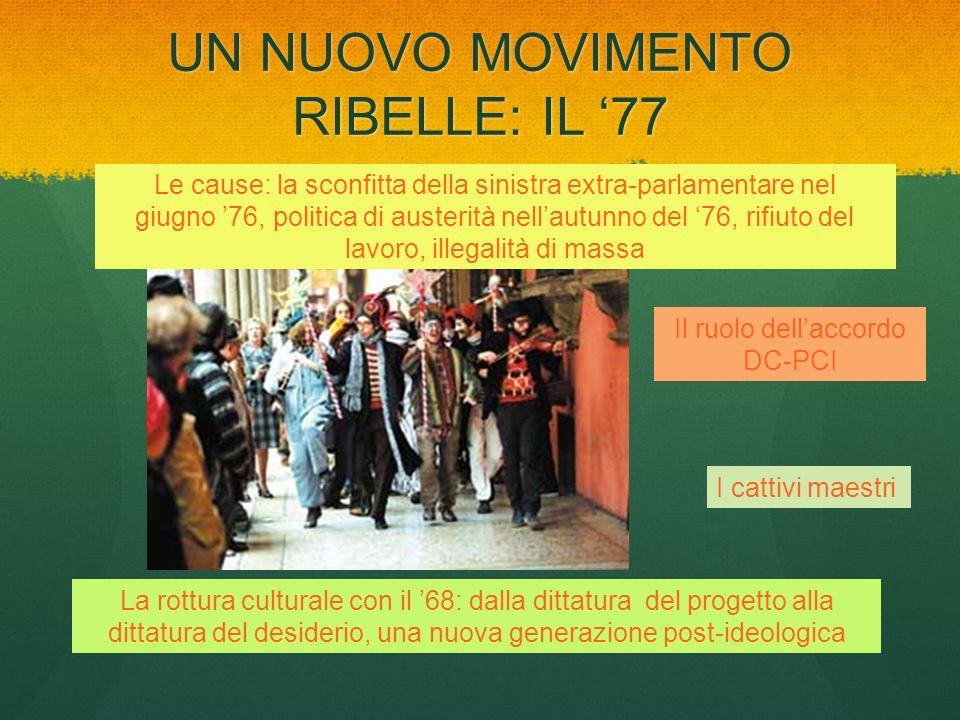 UN NUOVO MOVIMENTO RIBELLE: IL '77