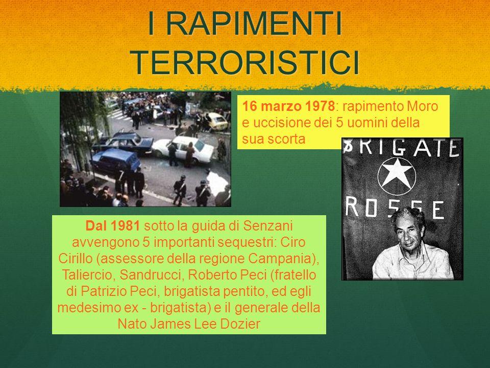 I RAPIMENTI TERRORISTICI