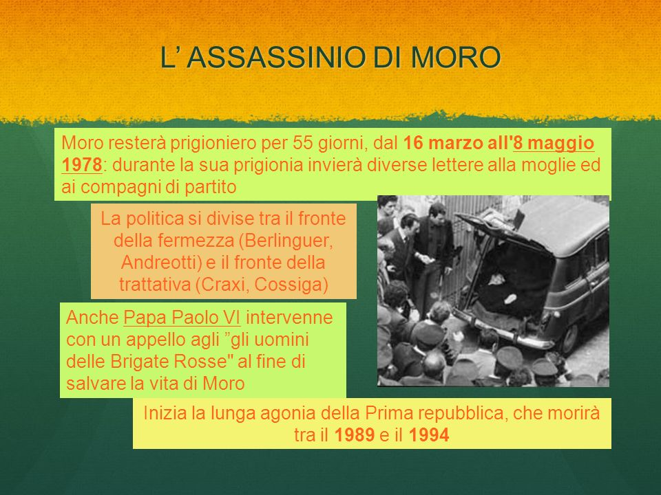 L' ASSASSINIO DI MORO
