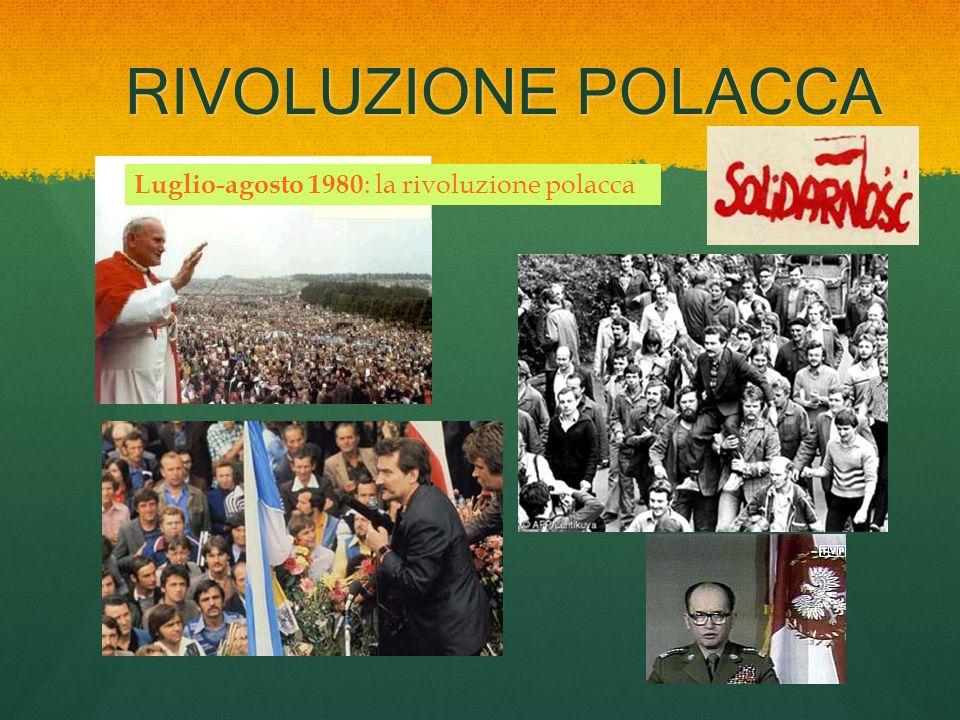 RIVOLUZIONE POLACCA Luglio-agosto 1980: la rivoluzione polacca