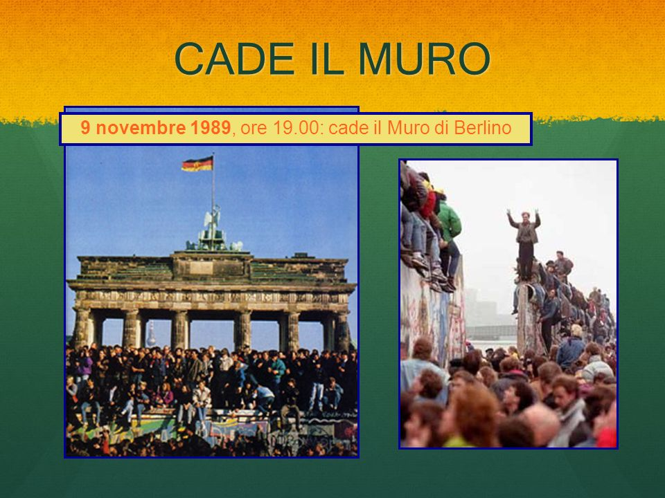 9 novembre 1989, ore 19.00: cade il Muro di Berlino
