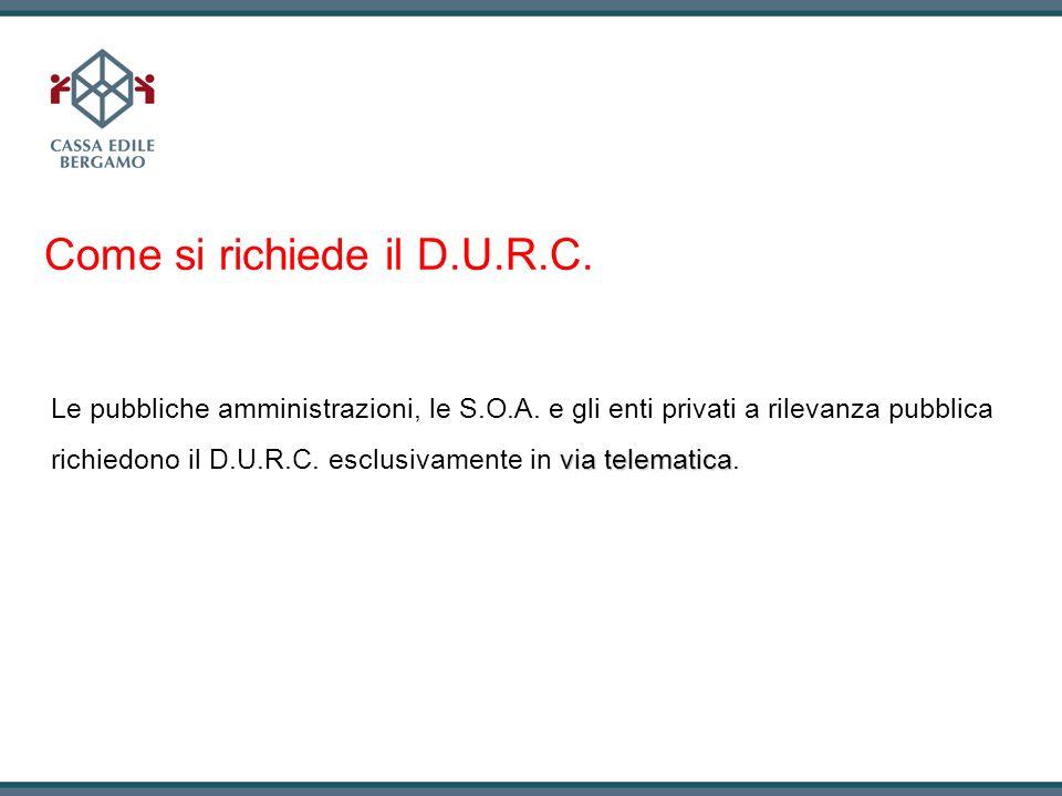 Come si richiede il D.U.R.C.