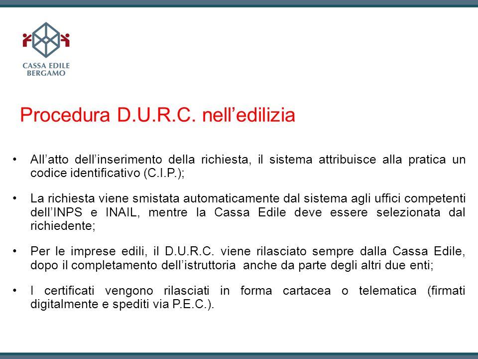 Procedura D.U.R.C. nell'edilizia