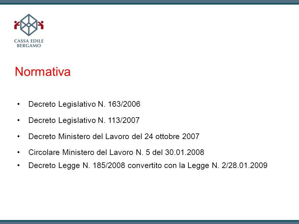 Normativa Decreto Legislativo N. 163/2006
