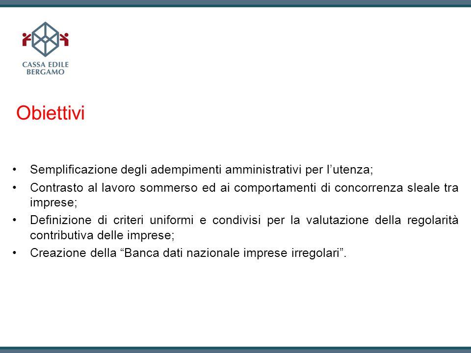 ObiettiviSemplificazione degli adempimenti amministrativi per l'utenza;