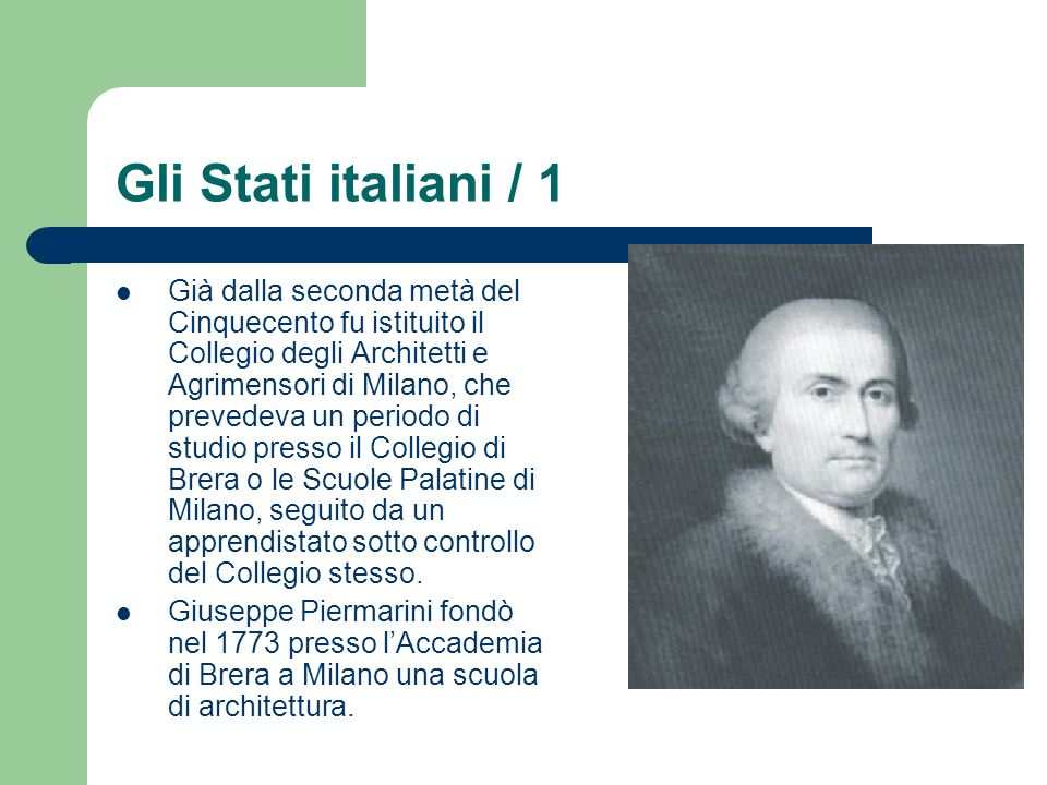 Gli Stati italiani / 1