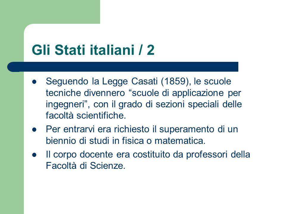 Gli Stati italiani / 2