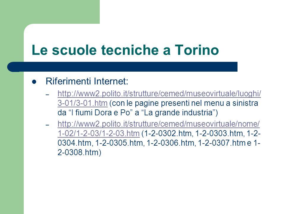 Le scuole tecniche a Torino