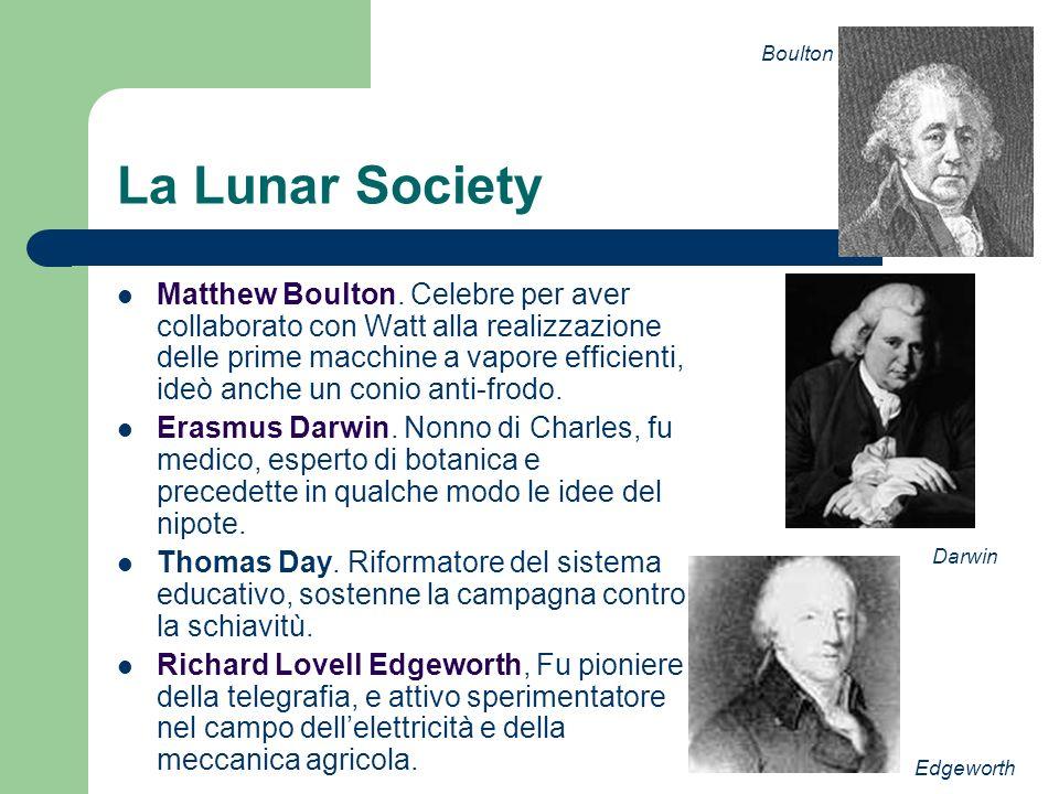 Boulton La Lunar Society.