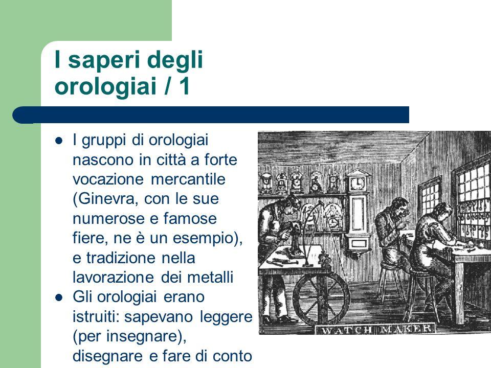 I saperi degli orologiai / 1