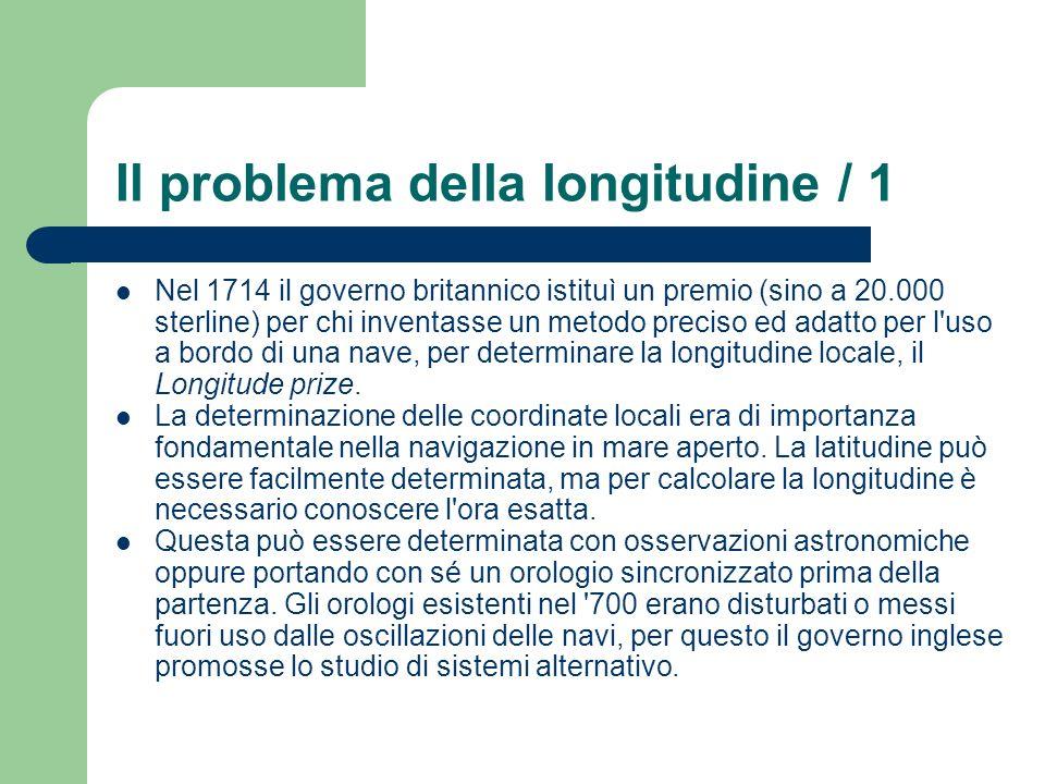 Il problema della longitudine / 1