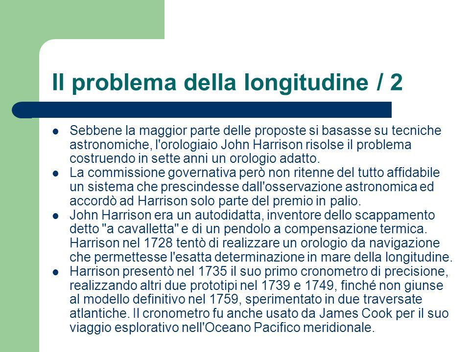 Il problema della longitudine / 2